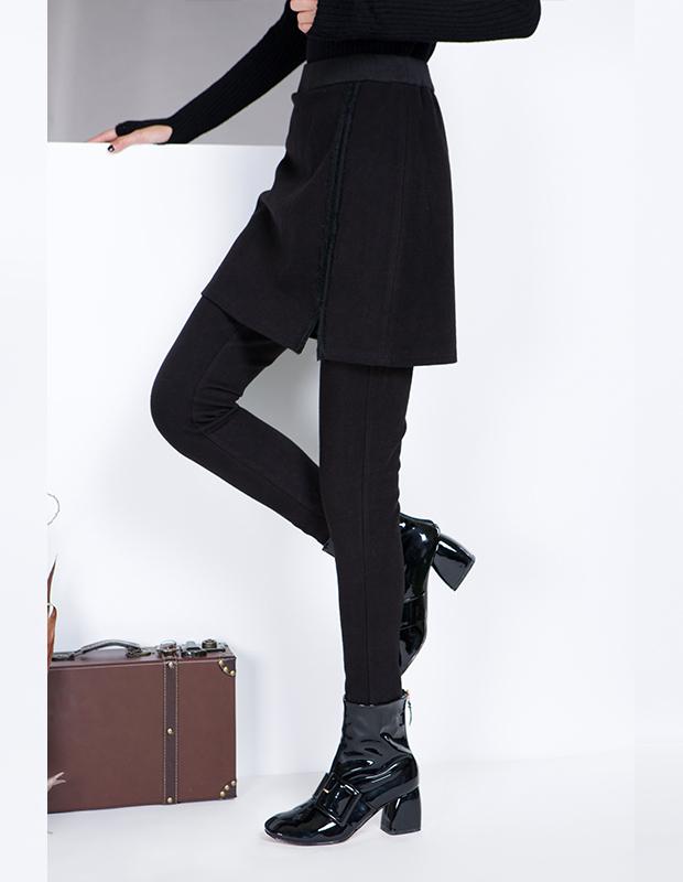 【伊霓裳】YCDL8-075 开叉假两件打底裤裙
