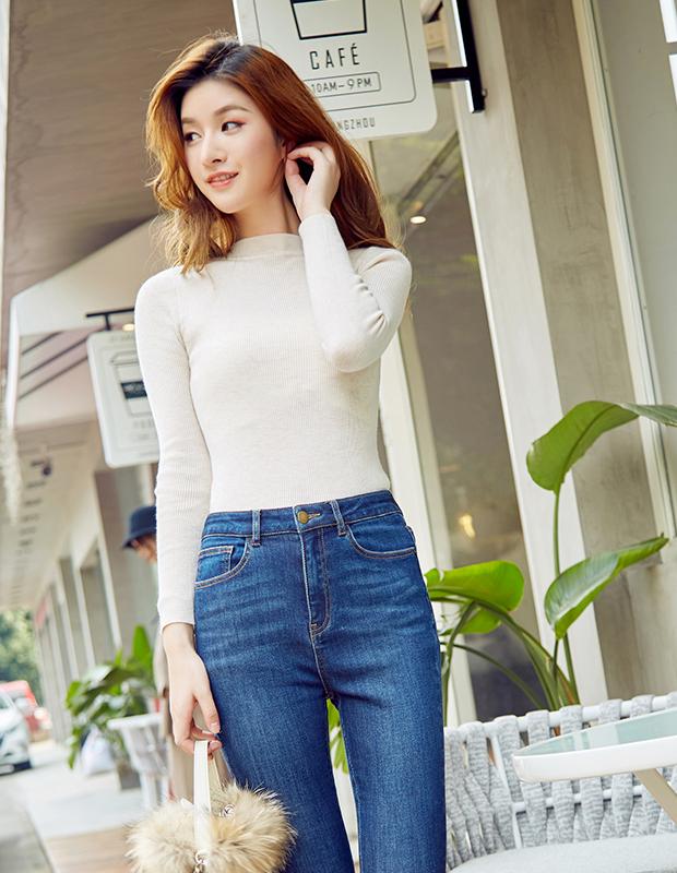 【伊霓裳】YCCB-0010 极简修身小高领轻薄毛衫