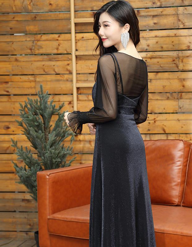 【伊霓裳】YNS110 轻奢性感风连衣裙两件套