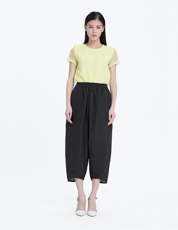 【伊霓裳】15067 个性时尚宽松阔腿裤