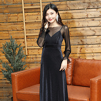 YNS110 輕奢性感風連衣裙兩件套