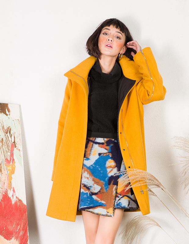 【伊霓裳】YCDL6-411 结构两件套呢大衣