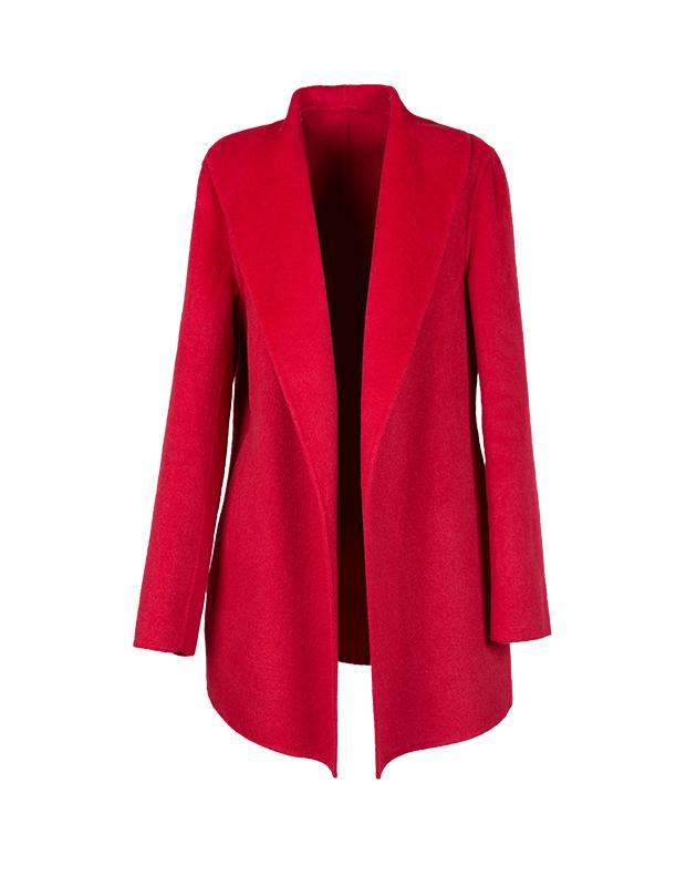 【伊霓裳】【特惠】 YCDW8-0018 时尚大翻领中长款双面羊毛大衣