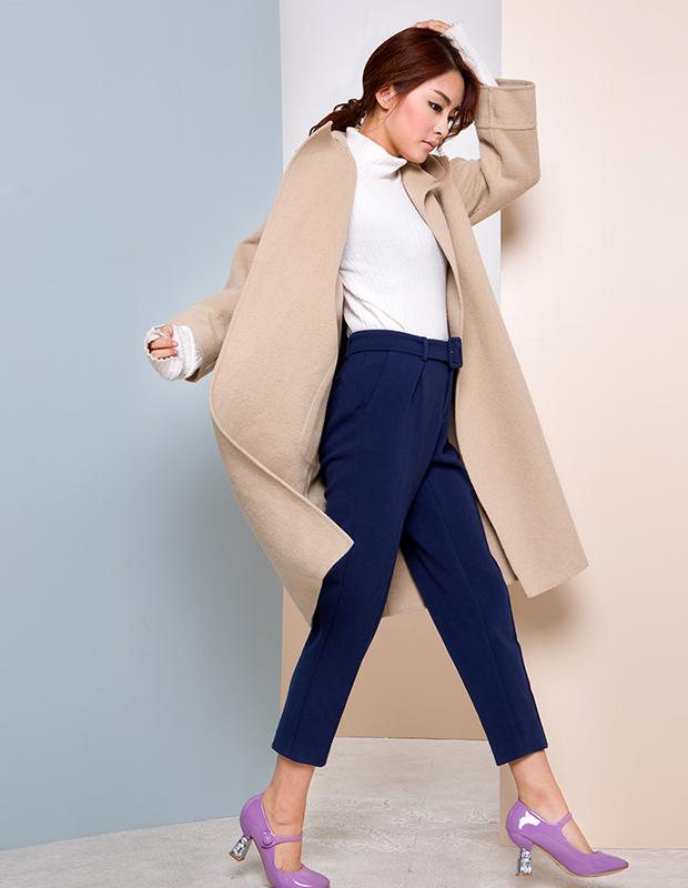 【伊霓裳】【特惠】 YCDW8-0002 时尚大气长款双面羊毛大衣