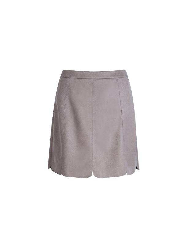 【伊霓裳】YCDL6-044 花瓣边麂皮半裙