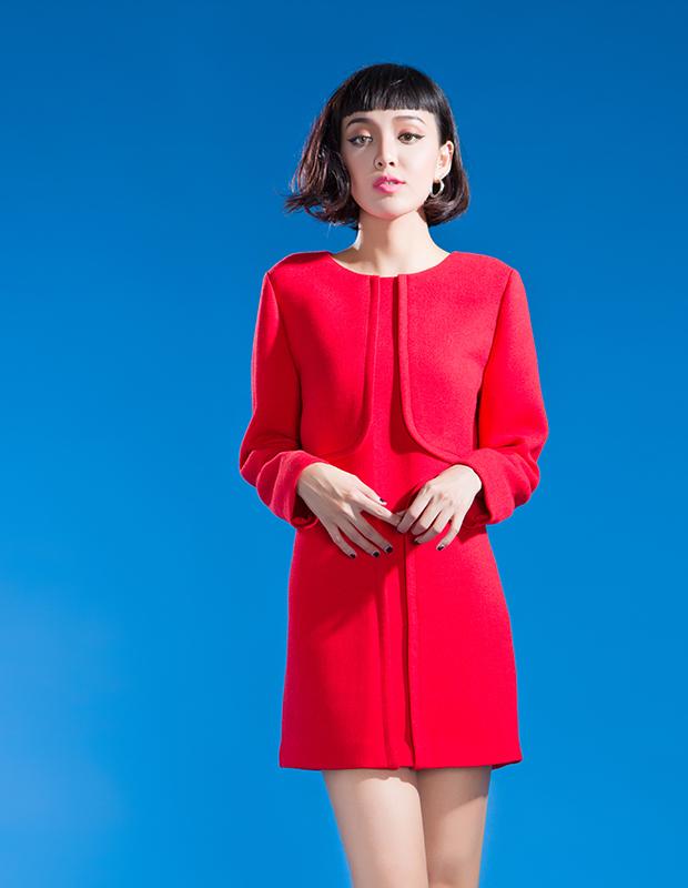 【伊霓裳】YCDL10-518 立体分割H型连衣裙