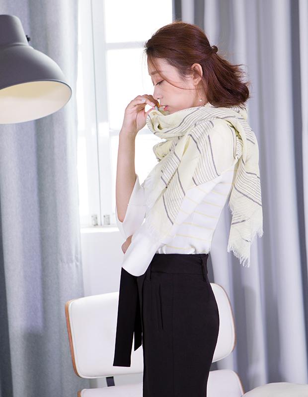 【伊霓裳】YNS69 淑女条纹套装