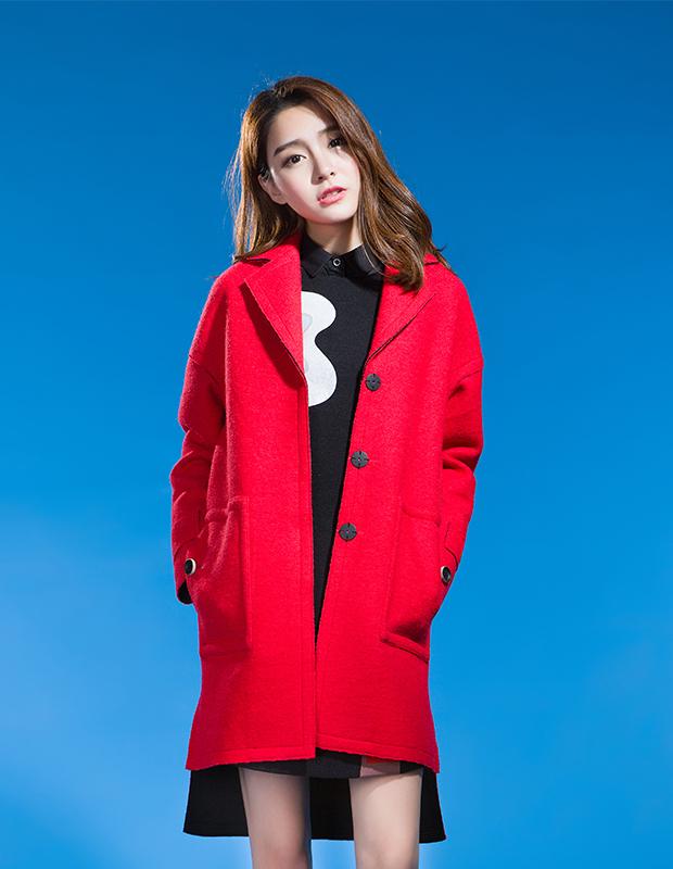【伊霓裳】YCDL10-502 结构H型宽松大衣